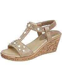 9bc702645 Cipriata Ladies Fortuna  Elasticated Jewelled Sling Back Wedge Heel Sandal