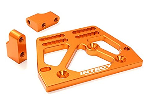 Integy RC Model Hop-ups C26707ORANGE Billet Machined Alloy Servo Mount Set for Axial 1/10 SCX-10 Scale Crawler