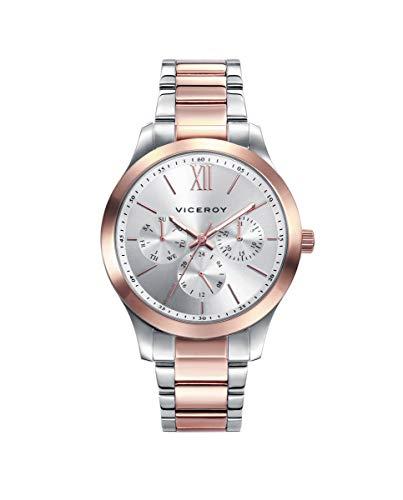 Viceroy 401070-03 - Reloj Analógico para Mujer, Acero Bicolor