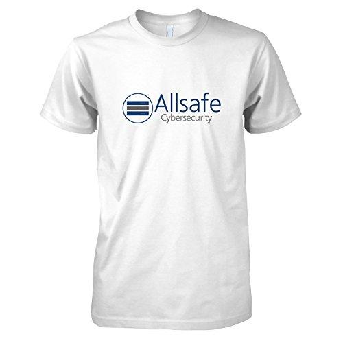 TEXLAB - Allsafe Cybersecurity - Herren T-Shirt, Größe M, weiß (Fsociety Kostüm)