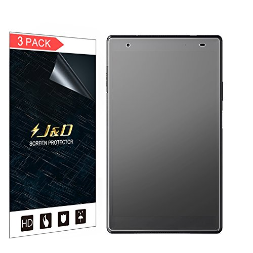 J & D Kompatibel für 3er Packung Lenovo Tab 4 8 Plus Displayschutzfolie, [Antireflektierend] [Nicht Ganze Deckung] Hochwertige Matte Folie Schutzschild Displayschutzfolie - [Nicht für Lenovo Tab 4 8]