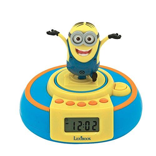 Lexibook RL985DES - Minions Jump Wecker (Minion Radio Fm)