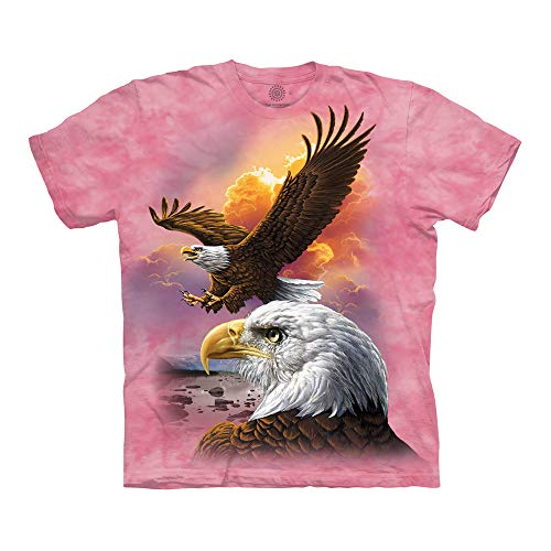 The Mountain Unisex-Erwachsene Eagle & Clouds T-Shirt, Rose, XXX-Large - Eagle Damen Rosa T-shirt
