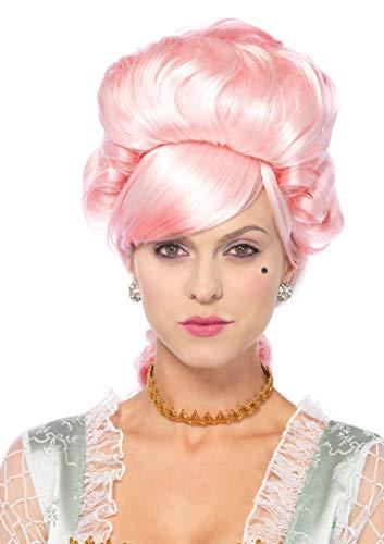 �Pastell Marie Antoinette Perücke, Damen Karneval Kostüm Fasching, Einheitsgröße, rosa ()
