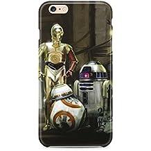 iPhone 5/5s Star Wars Caja del Silicona / Cubierta de Gel para Apple iPhone 5s 5 SE / Protector de Pantalla y Paño / iCHOOSE / 3 Droids
