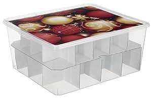 rotho 1772110927 aufbewahrungsbox f r christbaumkugeln platz bis zu 12 gro e und 20 kleine. Black Bedroom Furniture Sets. Home Design Ideas