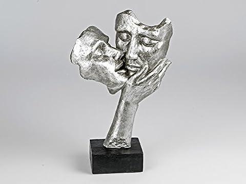 Deko Figur, moderne Büste, Skulptur Kuss (38