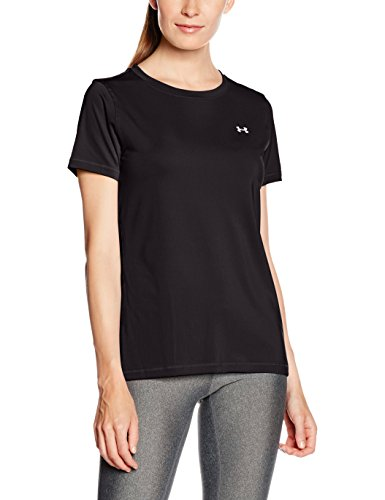 Under Armour UA Hg  SS T-Shirt con Maniche Corte Donna - Nero (Nero) - S