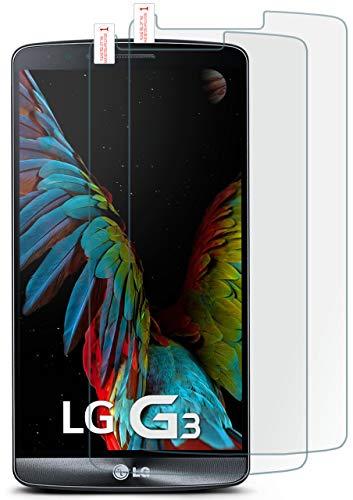 moex 2X 9H Panzerfolie für LG G3 | Panzerglas Display Glasfolie [Tempered Glass] Screen Protector Glas Displayschutz-Folie für LG G3 Schutzfolie