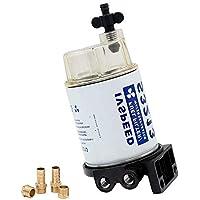 """DIYARTS Filtro de Combustible 3/8""""S3213 Combustible Marino Separación de Agua Sistema de Barco Filtro Separador de Agua para Motor Fuera de Borda de Barco"""