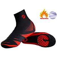 Cubre Zapatos de Bicicleta, Vaxiuja Cubrezapatos Térmico Impermeable A Prueba de Viento Chanclos Protector MTB