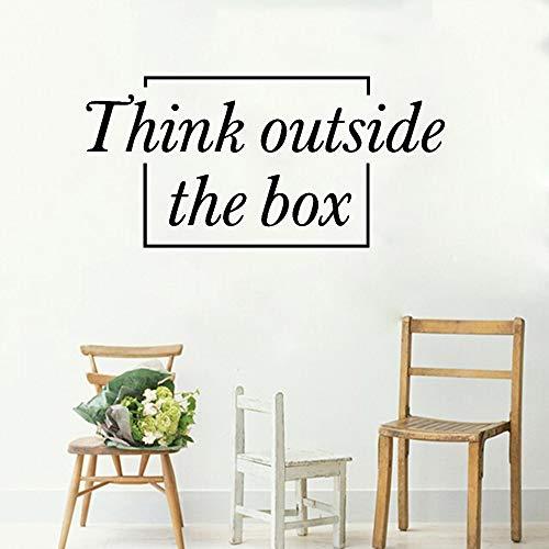 Wandaufkleber Denken Außerhalb Der Box Vinyl Kunst Moderne Wohnkultur Aufkleber Removable Wallpaper Boy Zimmer 56 * 115 cm (Der Party-spiele Außerhalb)