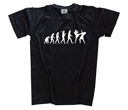 Shirtzshop Evolution Kickboxen Kids Shirt Kinder-Shirt Schwarz 116