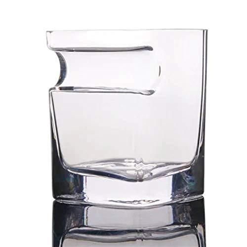 Tianzhiyi Feines Weinglas Whiskey Creative Cigar Glas Crystal Cup Bar Zubehör für Party Hand-Free für Zigarre Zigarettenliebhaber (Crystal Brot-box)