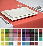 Élégant linge de table Chemin de table Nappe Nappe Entretien facile 40couleurs., Himberrot, 40x140cm