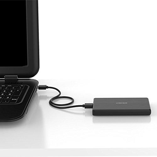 """ORICO 2,5"""" Externes Festplattengehäuse, USB 3.0 auf SATA III 6 Gb/s, für 7mm und 9,5 mm 2,5-Zoll SATA Notebook Interne HDD und SSD, Werkzeugfreie Montage, UASP Beschleunigung (Schwarz)"""