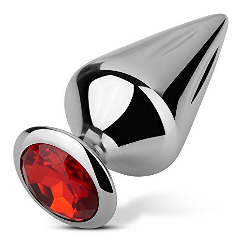 EIS, Anal-Plug Riffel, hochwertig und funkelnd, für Sie & Ihn, Metall