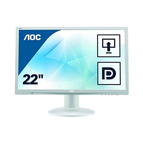 AOC E2260PQ 55,9 cm (22 Zoll) Monitor (VGA, DVI, DisplayPort, 2ms Reaktionszeit, 1680 x 1050, 60 Hz, Pivot) lichtgrau
