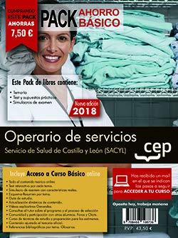 PACK AHORRO BASICO. Operario de servicios. Servicio de Salud de Castilla y León (SACYL). (Incluye Temario, Test, Simulacros de Examen)