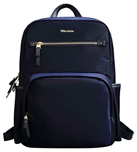 Wolfrealm Laptop-Rucksack für Damen, 35,6 cm (14 Zoll) Computer-Rucksack, modischer Damenrucksack, Geldbeutel, leicht, für Business, Notebook, Casual Daypack Blau blau