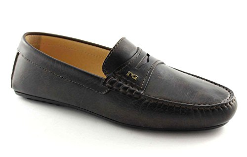 NERO GIARDINI 4240 t.moro scarpe uomo mocassino tubolare elegante 44