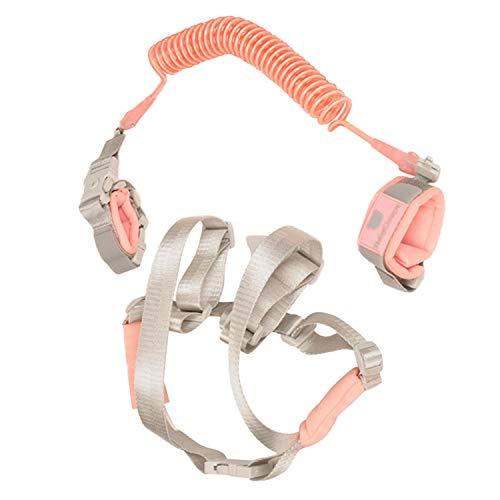 2m Einstellbare Sicherheit Anti-verlorene Handgelenk Link Strap Armband Leine mit Geschirr für Kinder Kinder Baby Beach Metro Park Einkaufszentrum Straßen Rosa