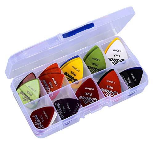 Astropick - 40 Plektren - Set 40 - Mix von Größen 0.58/0.71/0.81/0.96/1.20/1.50 (mm) - Alle Ihre Picks an einem Ort - Perfektes Geschenk - Für Ihre Elektro, Akustik oder Bassgitarre