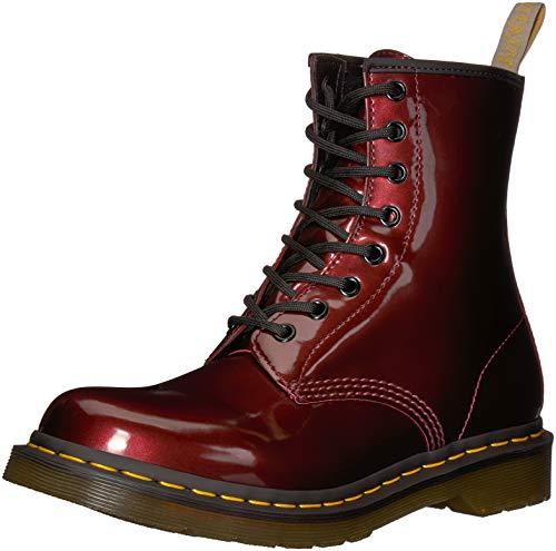 Dr. Martens Damen 1460 W Vegan Chrome Kurzschaft Stiefel, Rot (Oxblood 601), 40 EU -