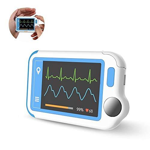 EKG-Monitor, HeartMate-Lite Heart Health-Tracker zur Erkennung von Vorhofflimmern in Plam, EKG-Monitor mit EKG-Rhythmen ohne EKG-Software -