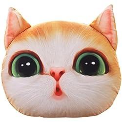 SKY 37 * 30cm Cute Cartoon Simulación Creativa 3D Búho Cojines Cat Almohada (E)