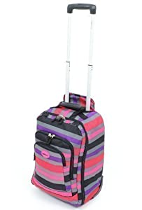 HIGHBURY - 47cm Cabin Size Wheeled Trolley Case - Stripe