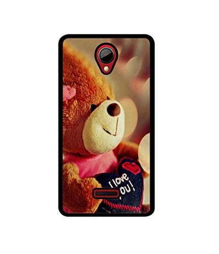 Casotec Teddy Bear Design Canvas Printed Soft TPU Back Case Cover for Micromax Canvas Fun A76  available at amazon for Rs.349