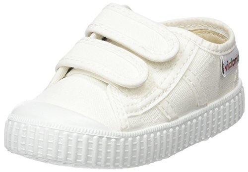 Victoria Lona Dos Velcros, Baskets Mixte Bébé Blanc (Blanco)