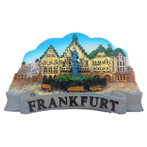 Frankfurt Deutschland Harz 3D Kühlschrank Kühlschrankmagnet Travel City Souvenir Sammlung Handmade Craft White Board Kühlschrank Aufkleber