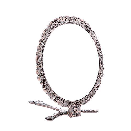 perfk Faltbar Griff Handspiegel Kompaktspiegel - Kupfer