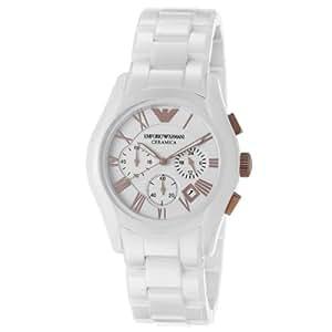 Emporio Armani - AR1416 - Montre Homme - Quartz Chronographe - Chronomètre - Bracelet Céramique Blanc