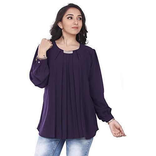 Go.4.it Women's Pleated Top (XXXX-Large, Purple)