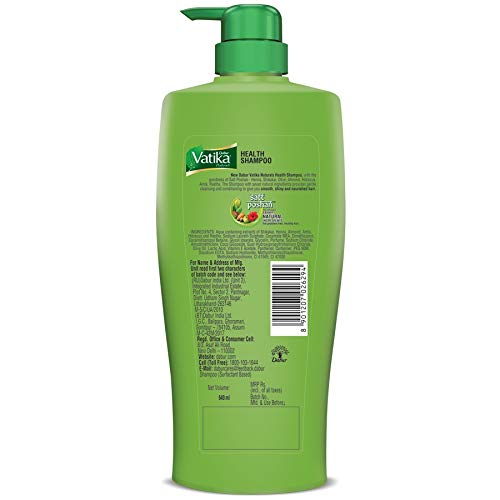 Dabur Vatika Health Shampoo - Power of 7 Natural Ingredients - 640 ml