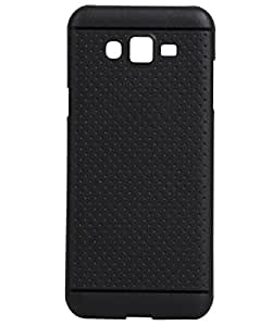 KANICT Exclusive Dotted Soft Rubberised Back Case Cover For Samsung Galaxy J7 J700F - Black
