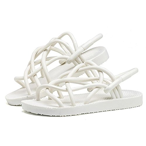 SHANGXIAN Paare Wild Sommer Flip Flops Sandalen weiss schwarz (Buy one, Get zwei Paare) White