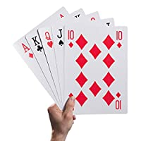 Guilty Gadgets A4 Giant Jumbo Plastic Coated Play Playing Cards Deck Indoor and Outdoor Garden Family Party BBQ Game Xmas Fete Fair Higher Lower Games Your Right