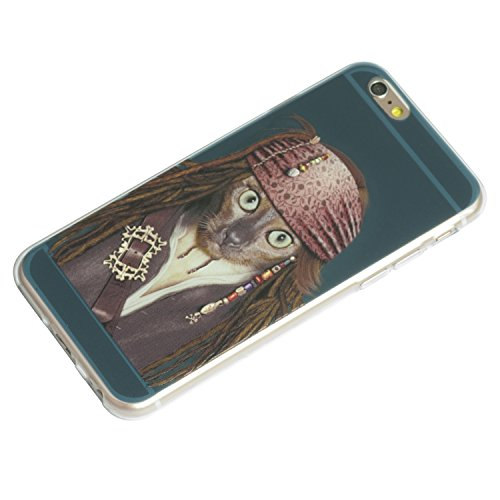 "iprotect Housse de protection Soft Case - Édition Shakespeare Chien en gris - Apple iPhone 6 (4,7"") Pirate Chat édtion turquoise"