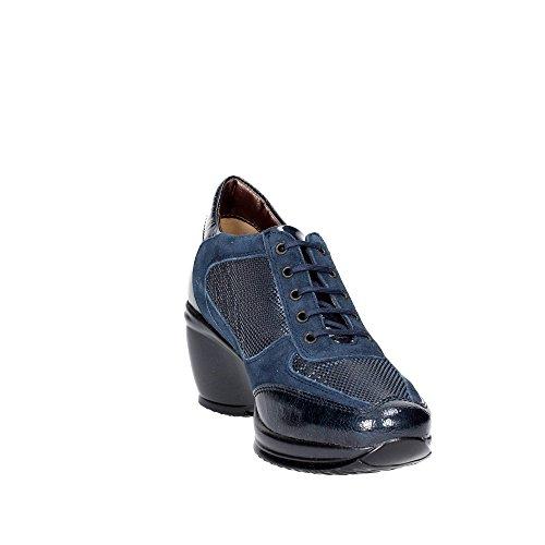 Sanagens 9968 Sneakers Femme Vernis/tissu Bleu Bleu