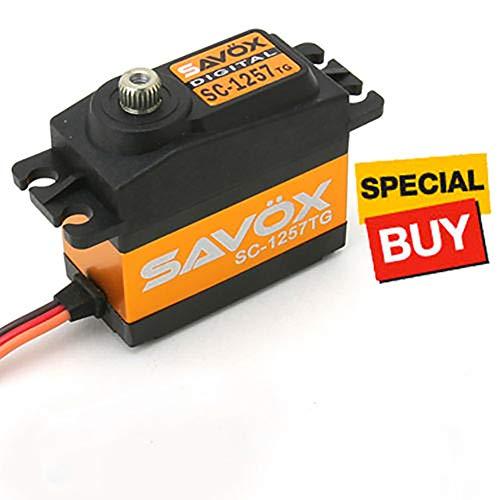, Savox SC1258TG Super High Speed Digital Servo RC Auto Hubschrauber, schwarz ()