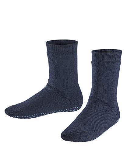 FALKE Kinder Catspads Baumwolle Wolle Einfarbig 1 Paar ABS Stoppersocken, Blickdicht, Blau (darkmarine), 39-42