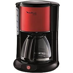 Moulinex FG360D11 Cafetière Filtre Verseuse Subito Rouge Inox 10-15 Tasses 1000W