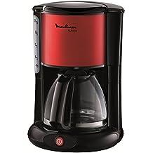 Moulinex FG360D11 - Cafetera de goteo, 1000 W, color negro y rojo