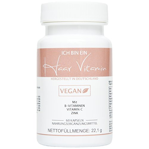 Valetudoo HAAR VITAMINE - für gesunde und schöne Haare - VEGAN, Biotin + Selen + Zink, Vitamin A, Vitamin B3 & B5 & B6, Vitamin C, 60 Kapseln in PREMIUMQUALITÄT, 100% natürlich, 1er Pack, Hergestellt in Deutschland