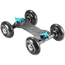 Neewer, Móviles de los Rolling Control Deslizante Dolly patines de Coches para Speedlite DSLR Rig, Negro