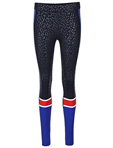 Marc Cain Sports Damen Leggings Mehrfarbig (Midnight Blue 395)